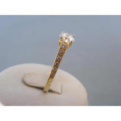 Zlatý dámsky prsteň zirkóny žlté zlato DP56313Z 14 karátov 585/1000 3,13g