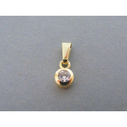 Zlatý dámsky prívesok žlté zlato zirkón DI078Z 14 karátov 585/1000 0,78g