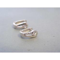 Zlaté dámske náušnice biele zlato zirkóny DA266B 14 karátov 585/1000 2,66g