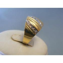 Zlatý dámsky prsteň biele žlté zlato vzorovaný DP59242V 14 karátov 585 1000  2 dc271b227e9