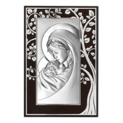 Strieborný obraz Panna Mária s Ježiškom strom šťastia BC6381M/3A