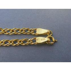 Zlatý náramok vzor rombo žlté zlato DN19193Z  14 karátov 585/1000 1,93g