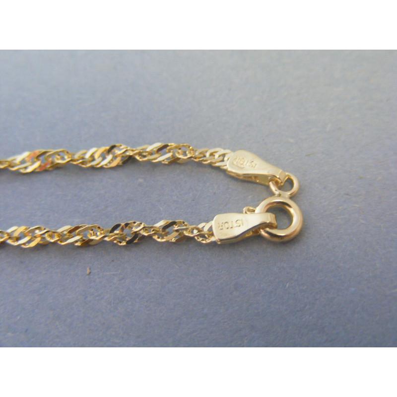 1cbf1ce5a Zlatá dámska retiazka točený vzor žlté zlato DR60533Z 14 karátov 585/1000  5,33g. Loading zoom