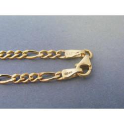 Zlatá pánska retiazka vzor figaro žlté zlato DR55494Z 14 karátov 585/1000 4,94g