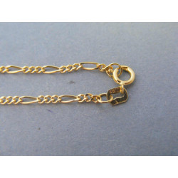 Zlatá retiazka vzor figaro žlté zlato DR50177Z 14 karátov 585/1000 1,77g