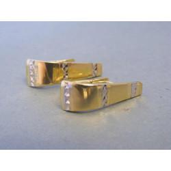 Zlaté dámske náušnice biele žlté zlato DA211V 14 karátov 585/1000 2,11g