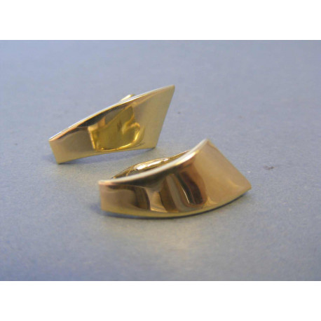 Zlaté dámske náušnice hladké žlté zlato DA202Z 14 karátov 585/1000 2,02g