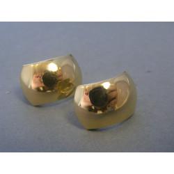 Zlaté dámske náušnice hladké žlté zlato DA289Z 14 karátov 585/1000 2,89g