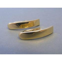 Zlaté dámske náušnice hladké žlté zlato DA227Z 14 karátov 585/1000 2,27g
