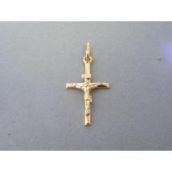 Zlatý krížik umučenie žlté zlato DI100Z 14 karátov 585/1000 1,00g