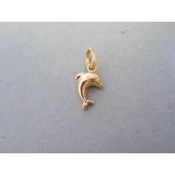 Zlatý dámsky prívesok delfín žlté zlato DI045Z 14 karátov 585/1000 0,45g
