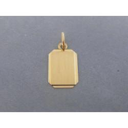 Zlatý prívesok platnička DI070Z 14 karátov 585/1000 0,70g