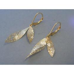 Zlaté dámske náušnice vzorované DA206Z 14 karátov 585/1000 2,06g