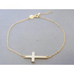 Zlatý dámsky náramok krížik VN20128Z 14 karátov 585/1000 1,28g