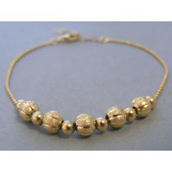 Zlatý dámsky náramok guličky žlté zlato VN205439Z 14 karátov 585/1000 4,39g