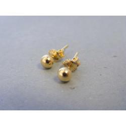 Zlaté náušnice guličky napichovačky VA081Z 14 karátov 585/1000 0,81g