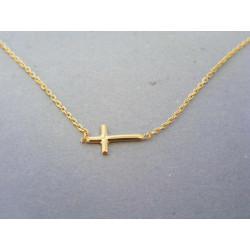 Zlatá dámska retiazka krížik žlté zlato DR45162Z 14 karátov 585/1000 1,62g