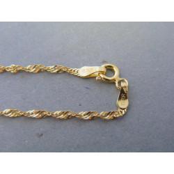 Zlatá dámska retiazka žlté zlato točený vzor VR445235Z 14 karátov 585/1000 2,35g