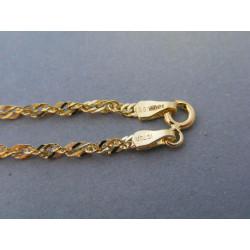 Zlatá dámska retiazka točený vzor žlté zlato VR55485Z 14 karátov 585/1000 4,85g