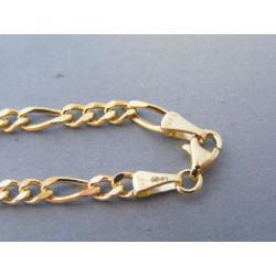 Zlatá pánska retiazka vzor figaro VR595873Z 14 karátov 585/1000 8,73g