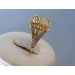 Zlatý dámsky prsteň zirkóny žlté zlato VP55424Z 14 karátov 585/1000 4,24g