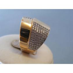 Zlatý dámsky prsteň zirkóny červené zlato VP59517C 14 karátov 585/1000 5,17g