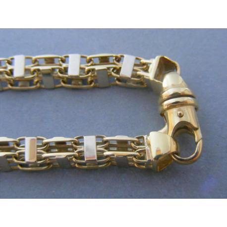 Zlatá pánska retiazka vzorovaná biele žlté zlato VR605708V 14 karátov 585/1000 57,08g
