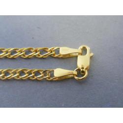 Zlatá pánska retiazka vzorovaná žlté zlato VR50509Z 14 karátov 585/1000 5,09g