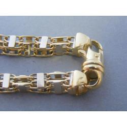 Zlatý pánsky náramok vzorovaný biele žlté zlato VN222356V 14 karátov 585/1000 23,56g