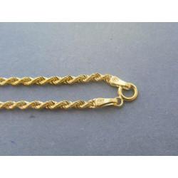 Zlatá dámska retiazka točený vzor žlté zlato VR50247Z 14 karátov 585/1000 2,47g
