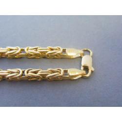 Zlatá pánska retiazka kráľovský vzor zirkóny VR6452552Z 14 karátov 585/1000 25,52g