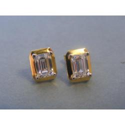 Zlaté dámske náušnice žlté zlato zirkón VA281Z 14 karátov 585/1000 2,81g