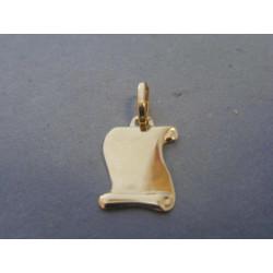 Zlatý prívesok platnička žlté zlato VI059Z 14 karátov 585/1000 0,59g