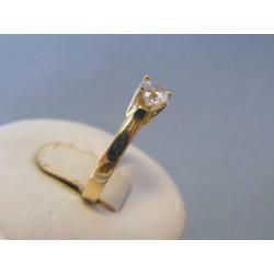 Zlatý dámsky prsteň žlté zlato zirkóny VP50247Z 14 karátov 585/1000 2,47g