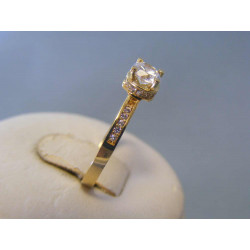 Zlatý dámsky prsteň žlté zlato zirkóny VP56182Z 14 karátov 585/1000 1,72g