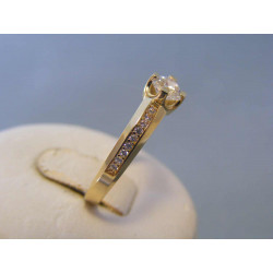 Zlatý dámsky prsteň zirkóny žlté zlato VP61248Z 14 karátov 585/1000 2,48g