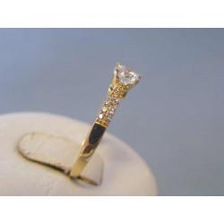 Zlatý dámsky prsteň žlté zlato zirkóny VP57228Z 14 karátov 585/1000 2,28g