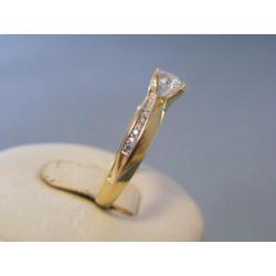 Zlatý dámsky prsteň zirkóny žlté zlato VP57228Z 14 karátov 585/1000 2,28g