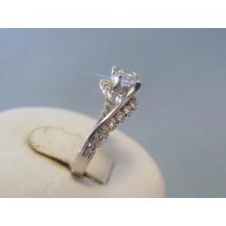 Zlatý dámsky prsteň biele zlato zirkóny VP50234Z 14 karátov 585/1000 2,34g