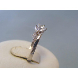 Zlatý dámsky prsteň biele zlato zirkóny VP54185B 14 karátov 585/1000 1,85g