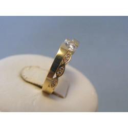 Zlatý dámsky prsteň žlté zlato zirkóny VP51337Z 14 karátov 585/1000 3,37g