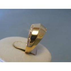 Zlatý dámsky prsteň zirkóny žlté zlato VP56349Z 14 karátov 585/1000 3,49g