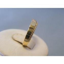 Zlatý dámsky prsteň zirkóny biele alebo žlté zlato VP51233 14 karátov 585/1000 2,33g