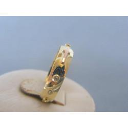 Zlatý prsteň ruženec žlté červené zlato VP55325V 14 karátov 585/1000 3,25g
