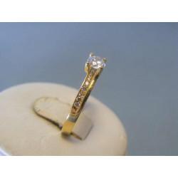 Zlatý dámsky prsteň žlté zlato zirkóny VP56302Z 14 karátov 585/1000 3,02g
