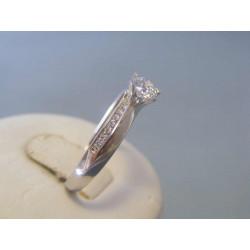 Zlatý dámsky prsteň biele zlato zirkóny VP60232B 14 karátov 585/1000 2,32g