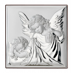 Strieborný obraz anjelikovia kocka VL81200/3L