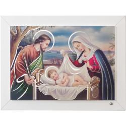 Strieborný obraz sv. rodina farebný Q343