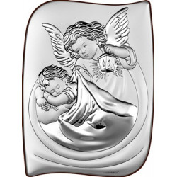Strieborný obraz anjelikovia BC6473/2X