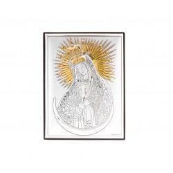Strieborný obraz Matka Božia pozlatený V18062/4L